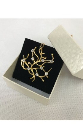 NE210 2017 Movie Beauty and the Beast Necklace Rose Tree Necklace Belle