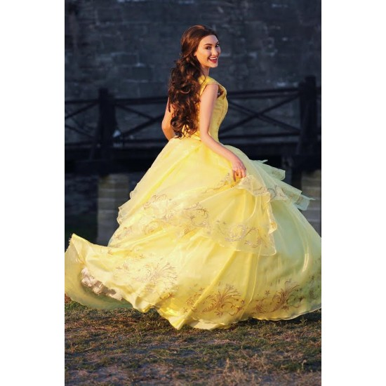 P210 COSPLAY beauty and beast princess belle Costume tailor made 2017 version