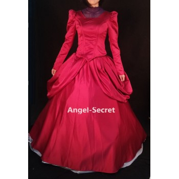P233 STEP MOTHER burgundy gown with brooch park version for Cinderella