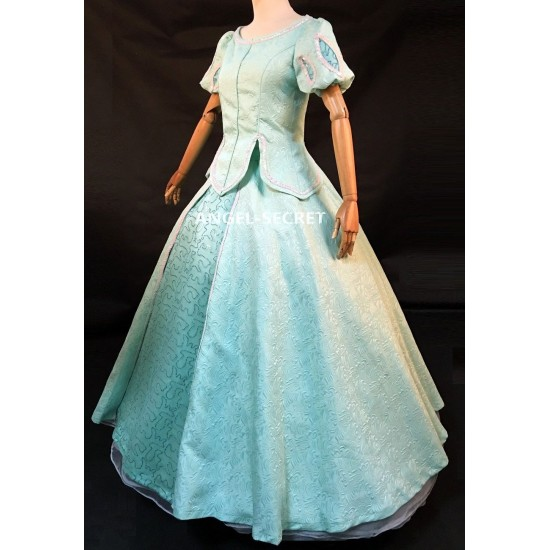 P285 Movies Cosplay Costume movie teal Ariel princess dress with sequins green