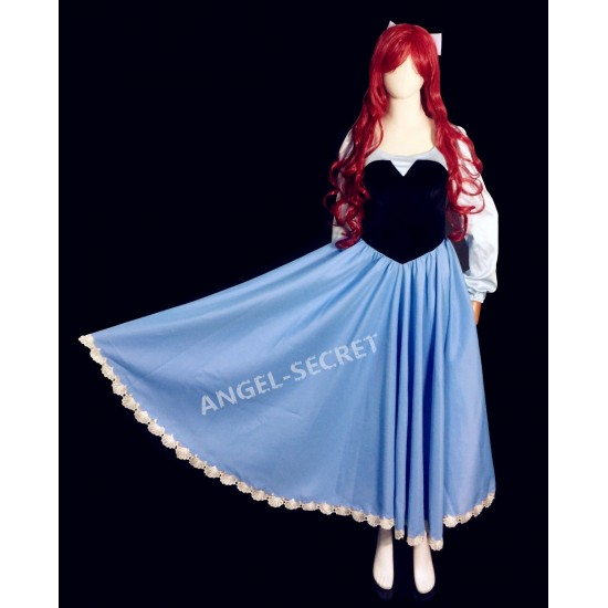 PS245 COSPLAY kiss the girl Ariel Princess little mermaid women costume with bow