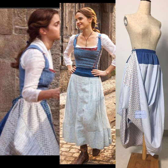 P110 COSPLAY beauty and beast princess belle Costume tailor made 2017 version
