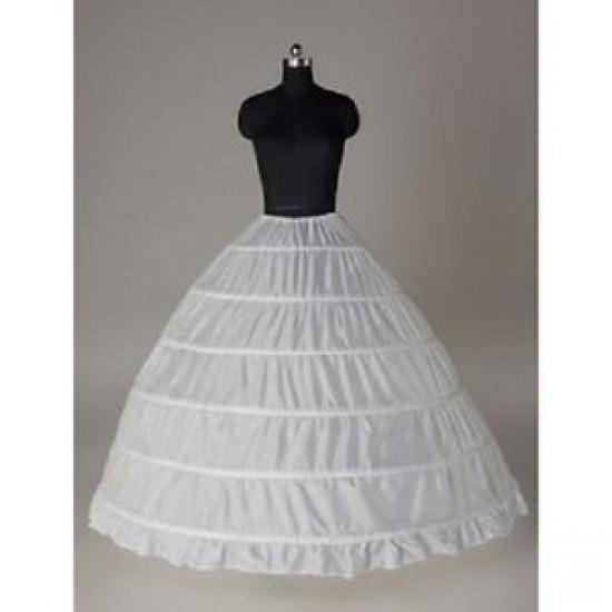 S2  6 hoop bone bridal wedding gown dress petticoat