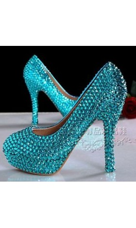 SH111 [Height:9cm] rhinestone Elsa SHOES HIGH HEEL 39 - 43