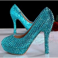 SH111 [Height:12cm] rhinestone Elsa SHOES HIGH HEEL 35- 39