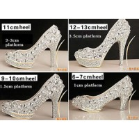 SH222 crystal shoes high heel 34 - 41