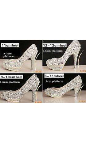 SH222 crystal shoes high heel 34 - 41