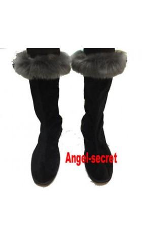 SH370 Frozen snow Kristoff fur boots