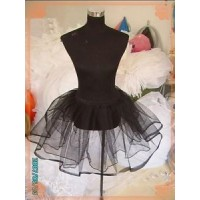 SS1 Petticoat black white Lolita lace Slip Skirt net support