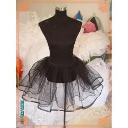 SS1 Petticoat black white Lolita lace Slip Skirt net support