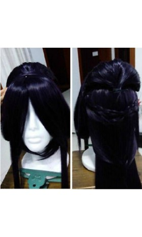 WG45 Mulan 80cm Long wig Dark purple