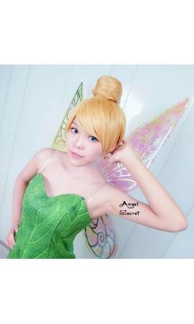 WG46 Tinkerbell Cosplay wig bun fairy