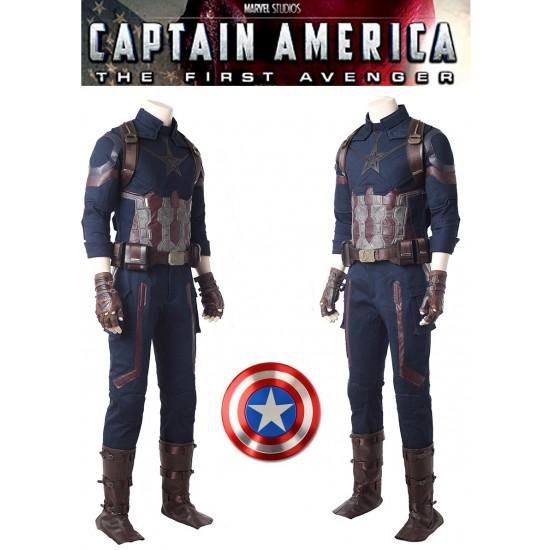 A005 Marvel Comics Avengers Infinity War captain america Steve Rogers cosplay costumes