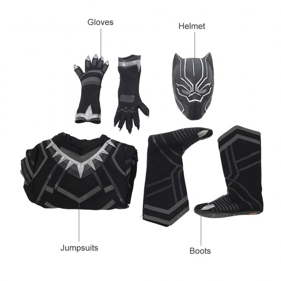 A007 Marvel Comics Avengers Infinity War Black Panther T'Challa captain America cosplay costumes