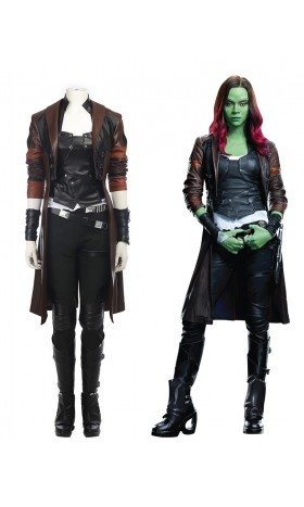 A009 Marvel Comics Avengers Infinity War Guardians of the Galaxy Gamora Zen Whoberi Ben Titan cosplay costumes