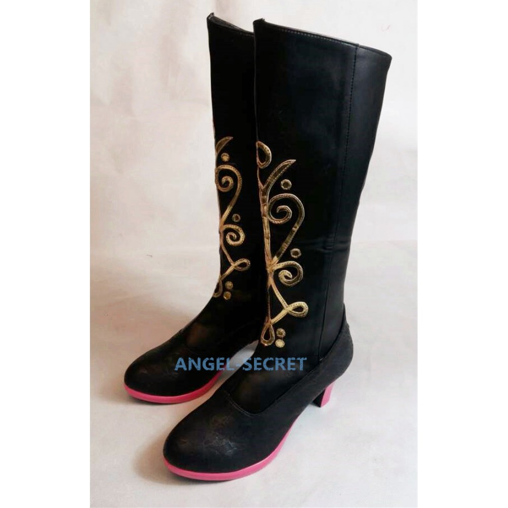 Anna black gold adult boots
