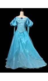 B178 Ariel park version gown fabric with Swarovski brooch The little mermaid ligh Blue version