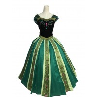 B712  Anna Cosplay Costume  Dress