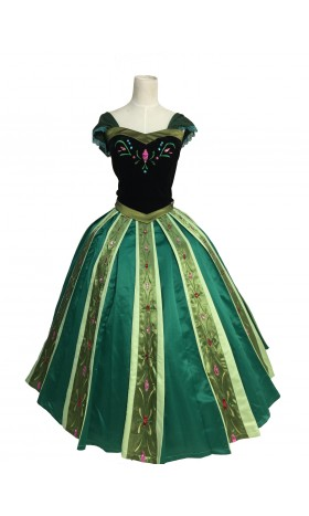 B712  Anna Cosplay Costume  Dress
