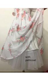 BM30 Belle 2017 white dress celebration dress disneybound chiffon dress