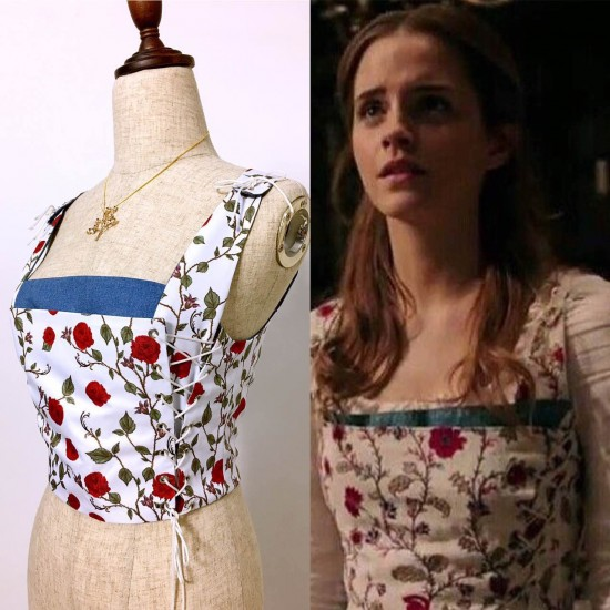 C115 COSPLAY beauty and beast princess belle  tailor made 2017 version Corset only