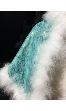 c178 Ariel teal cape