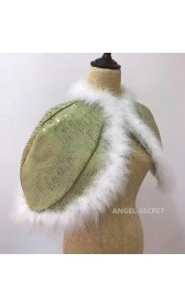 K338 TIANA DISNEY PRINCESS COSTUME DRESS GREEN GOWN