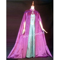 C345 CAPE Frozen ice snow Queen ELSA Cosplay coronation purple