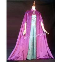 C345 CAPE Frozen ice snow Queen ELSA Cosplay coronation purple