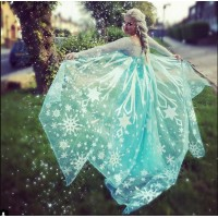 CL3 Glitter not flake off Elsa cape