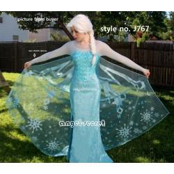 CL4 Glitter not flake off Elsa cape