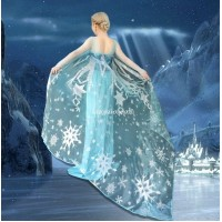 CL4 Glitter not flake off Elsa cape