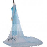 Cloak A Mini snow Glitter not flake off Elsa cape Cosplay Costume