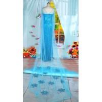 Cloak A blue cloak with snowflakes Elsa cape