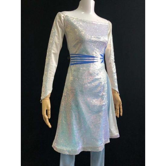 D87 Frozen2 Elsa underdress costume with full sequins version
