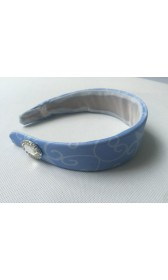 HB159 Cinderella princess matching blue Gloves and silver tirm Headband for P159 and p169