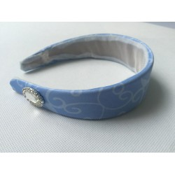 HB159H Cinderella princess matching blue  Headband for P159 and p169