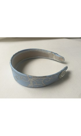 HB259H Cinderella princess matching  silver tirm Headband for P259