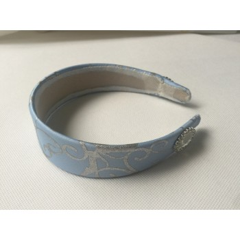 HB259H Cinderella princess matching  silver tirm Headband for P259