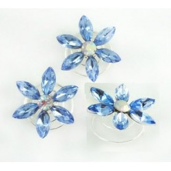 HP10 8pcs/lot LIYA snow hairpins blue for Movies Frozen Snow Queen Elsa Cosplay Costume wig