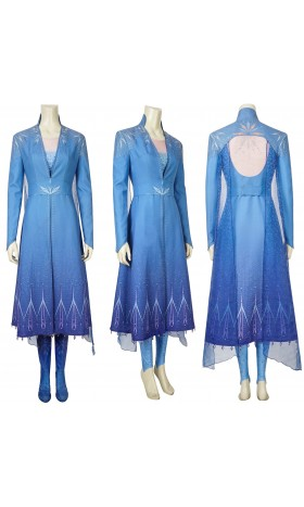 j996 Frozen 2 Elsa dress costume