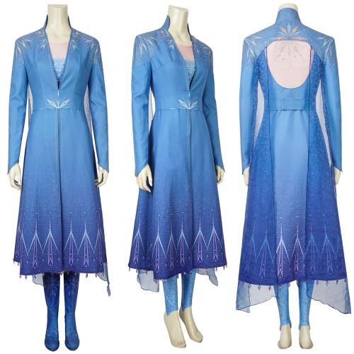 j996 Frozen 2 Elsa dress costume
