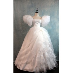 J235 women curtain dress Giselle cosplay wedding dress  from Enchanted TEAL PRINCESS