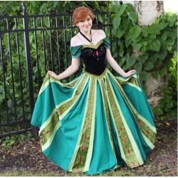 J712 frozen  Anna cosplay dress