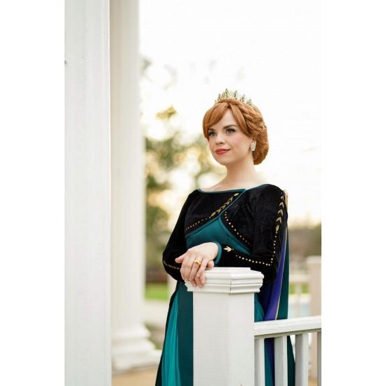 J715 Frozen2 Anna cosplay gown costume