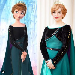 J715 Frozen2 Anna cosplay gown costume