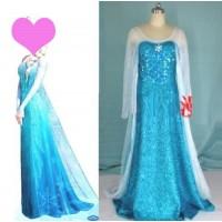 J718  Elsa Cosplay Costume