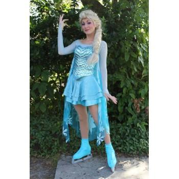 J737ice Elsa Ice skating dress