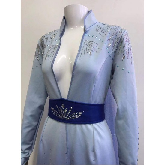 c886 Frozen2 Elsa dress costume new rhinestone version (just jacket and the belt only)