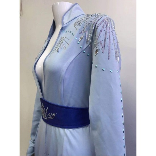 c887 Frozen2 Elsa dress costume new full rhinestone version (just jacket and the belt only)